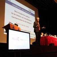 Prof. Horlitz während seines Vortrags über Ablation und Vorhofflimmern