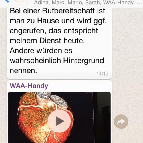 Foto aus WhatsApp-Gruppe anlässlich Aktionswoche, hier: Screenshot aus der WhatsApp-Gruppe