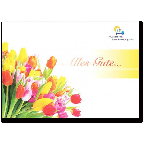 Grußkarte - Alles Gute - Tulpen