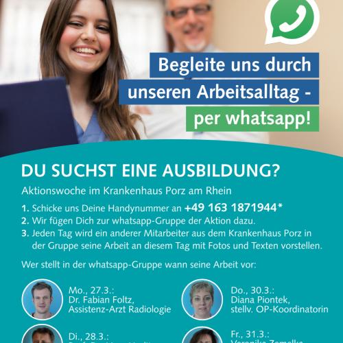 whatsapp-Aktion zur Mitarbeiter-Rekrutierung, Personalabteilung, Hr. Schiffer